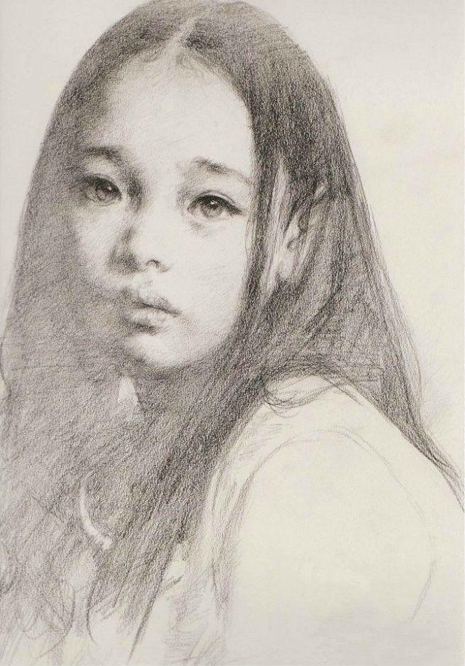 , Bosquejo carácter Ai Xuan emocional y expresivo: