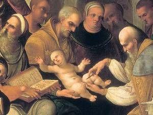 """Grundlage des Glaubens. Ludovico Mazzolinos """"Beschneidung Christi"""" von 1526, Kunsthistorisches Museum Wien. Foto: picture-alliance / akg-images"""