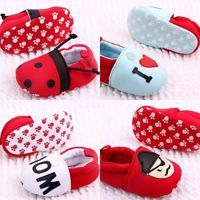 Baby Boy Girl Newborn Toddler Dot Heart Soft Sole Cotton Crib Shoes 0-12Months