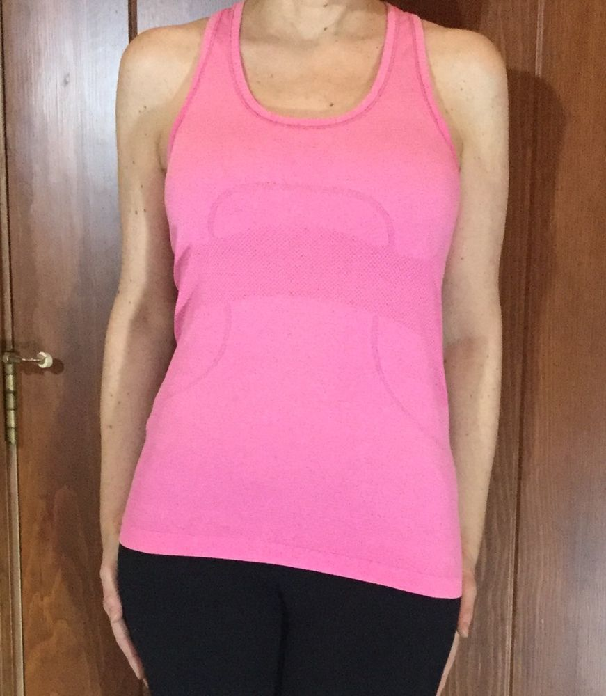 Lululemon Pink Run Swiftly Tank Top I Go the Distance for Cheese Set ...