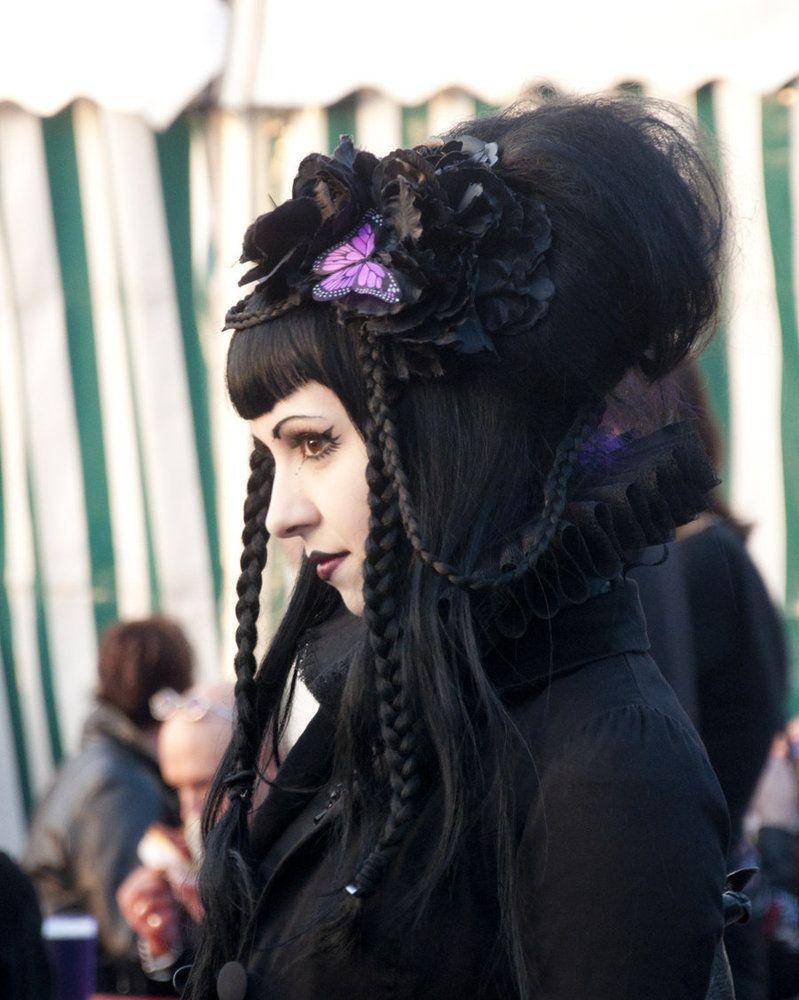 goth braids lovely