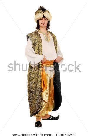Genie Turban Panto Play Cosplay Sultan Arabia Aladdin Ali Baba Middle East India