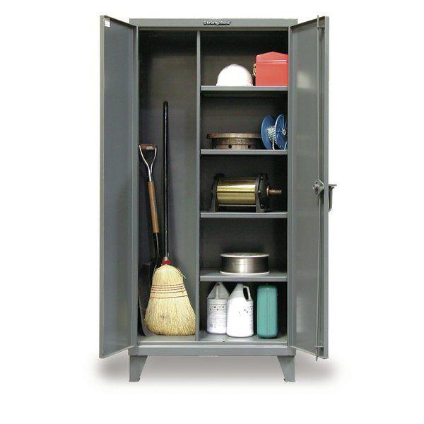 Organize Your Housekeeping Needs With Our Broom Closet Cabinets Double Doors Permit Full Acces Storage Cabinet Closet Storage Cabinets Utility Storage Cabinet
