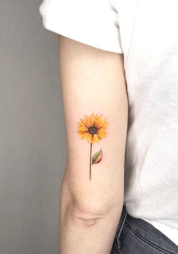 Photo of #Tattoo #SmallTattoo #WomanTattoo #Small #sunflower