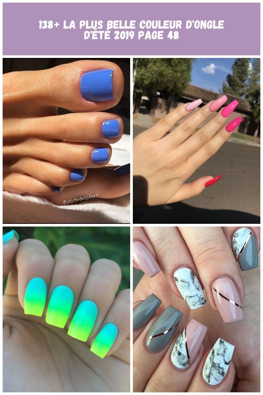 138 most amazing summer nail color 2019 page 48 138 couleurs dété les plus étonnantes pour les ongles 2019 page 48  summer nail 138 la plus belle cou...
