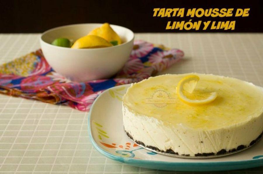Tarta mousse de limón y lima