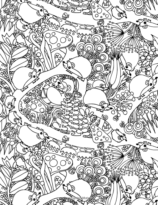 Off The Bookshelf Coloring Book 45 Weirdly Wonderful Designs To Color For Fun