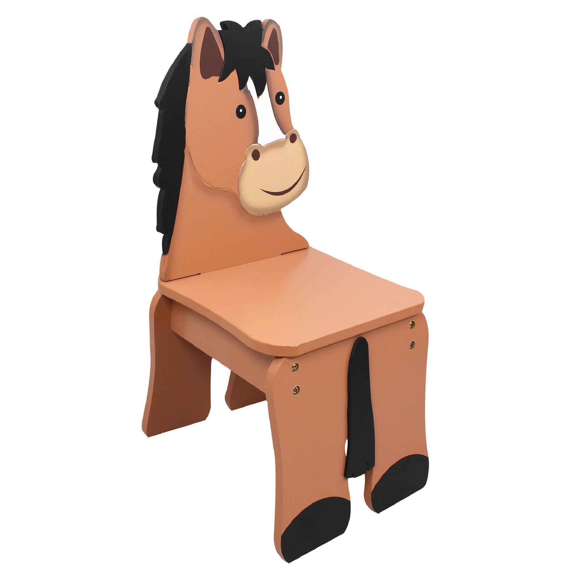 Happy Farm Kids Chair. Wooden HorsePainted ChairsKids ...