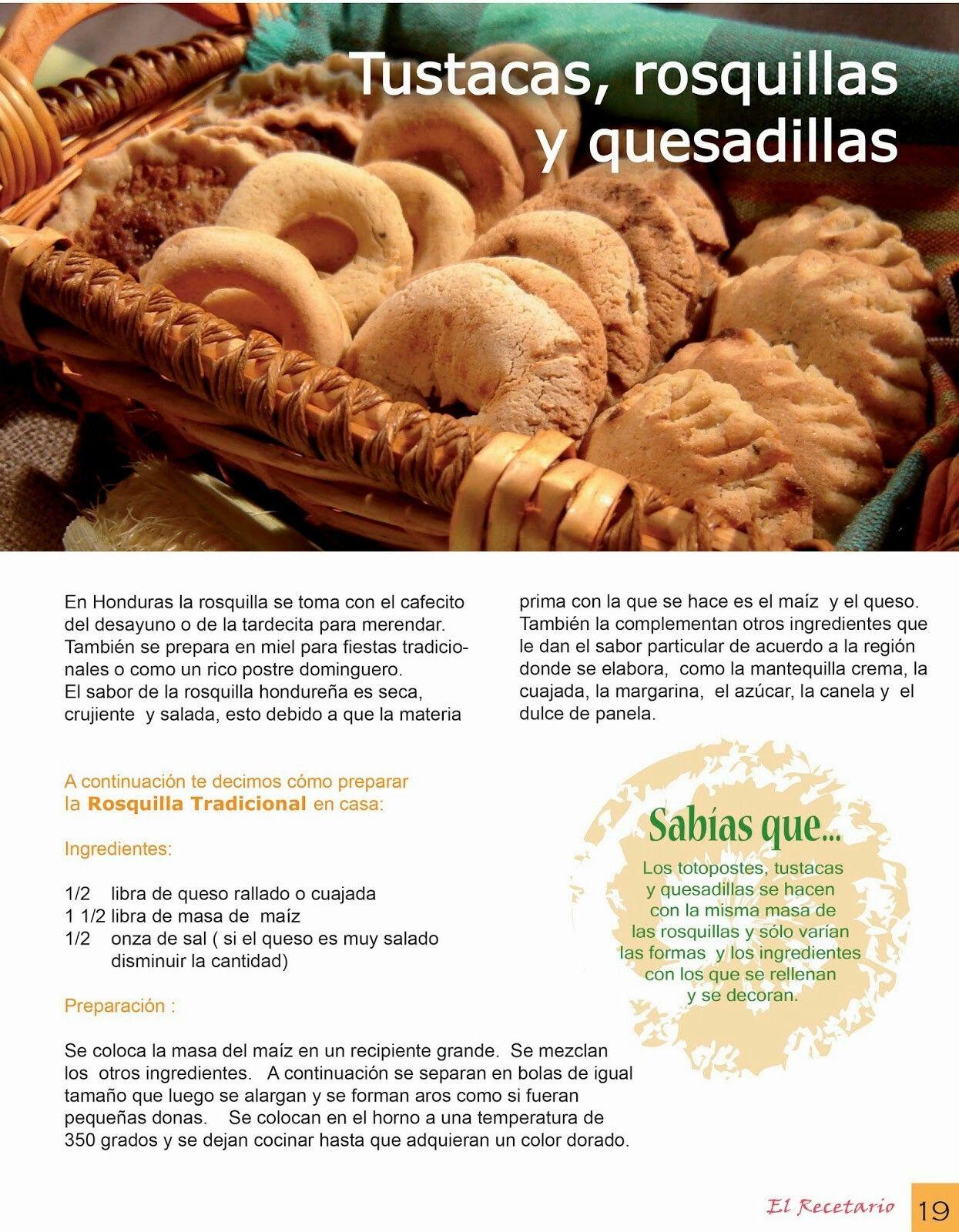 Tustacas, rosquillas y quesadillas hondurenas | food | Pinterest ...