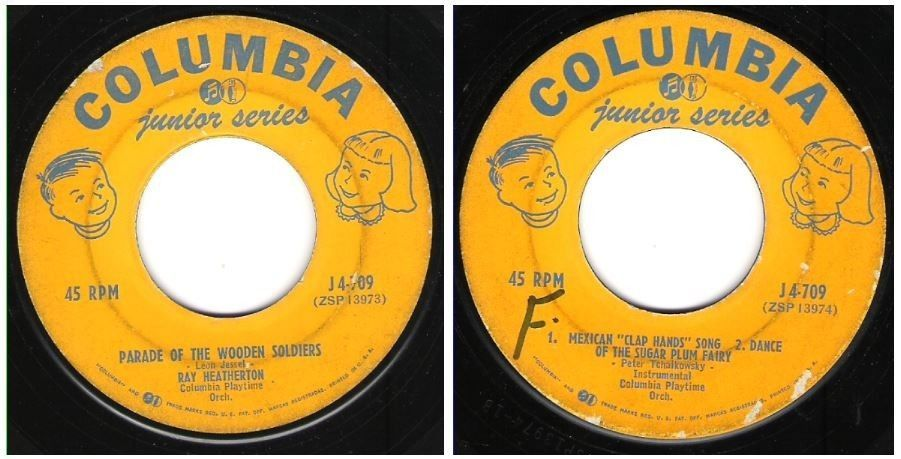 Ray Heatherton / Parade of the Wooden Soldiers / Columbia J4-709 / Junior Series ($0.99)