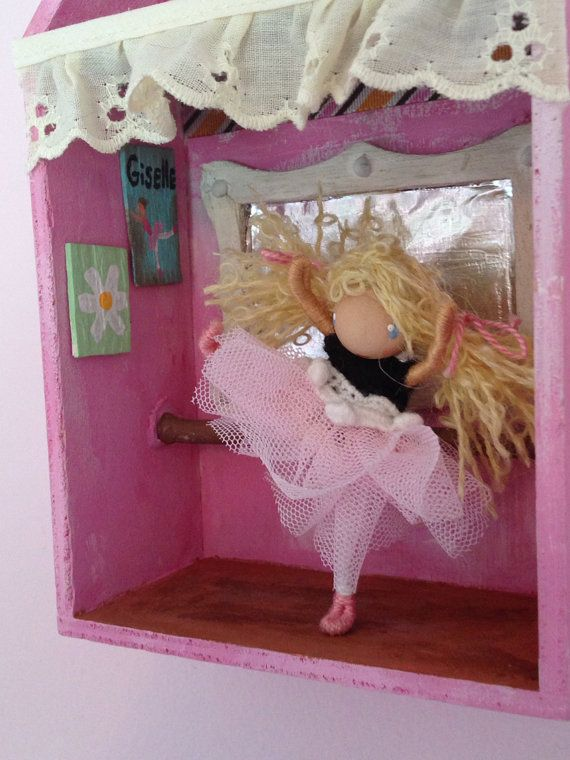 Waldorf Inspired Shadow Box Ballerina Studio with by ACuriousTwirl