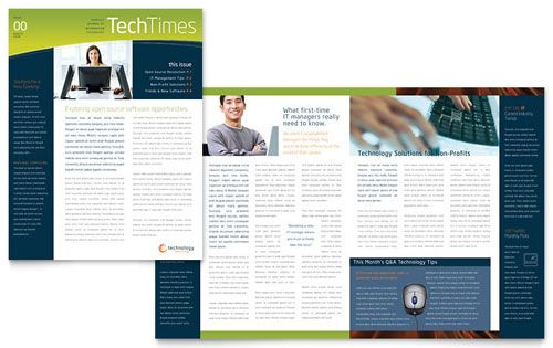 Techtimes Free Newsletter Template | Free Indesign Templates