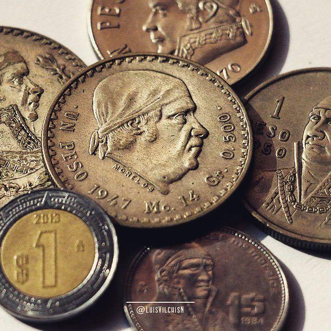 ¿Con cuántos de estos pesos pagaste? #Monedas #Peso #Numismática #México #Money…