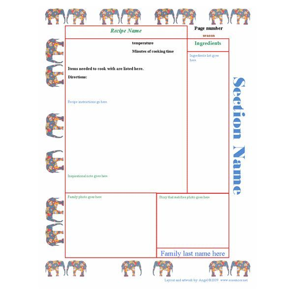 Rose MoorS Publisher Cookbook Template  Food