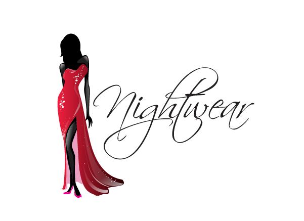 Night Wear Logo Design Clothing Garments