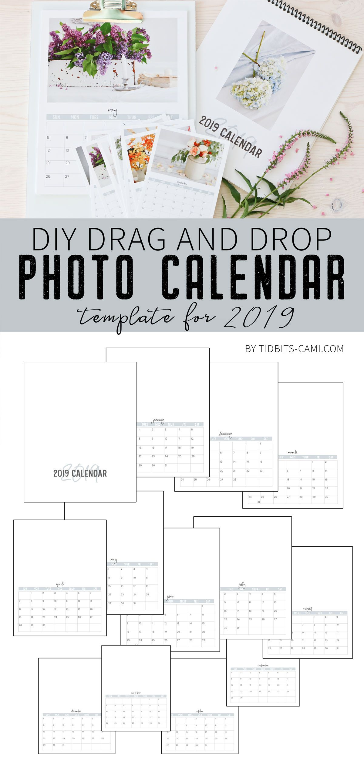 Diy Drag And Drop Photo Calendar Template Place Photos Where You Want Print How And Where You Want Photo Calendar Diy Diy Calendar Photo Diy Calendar Binding