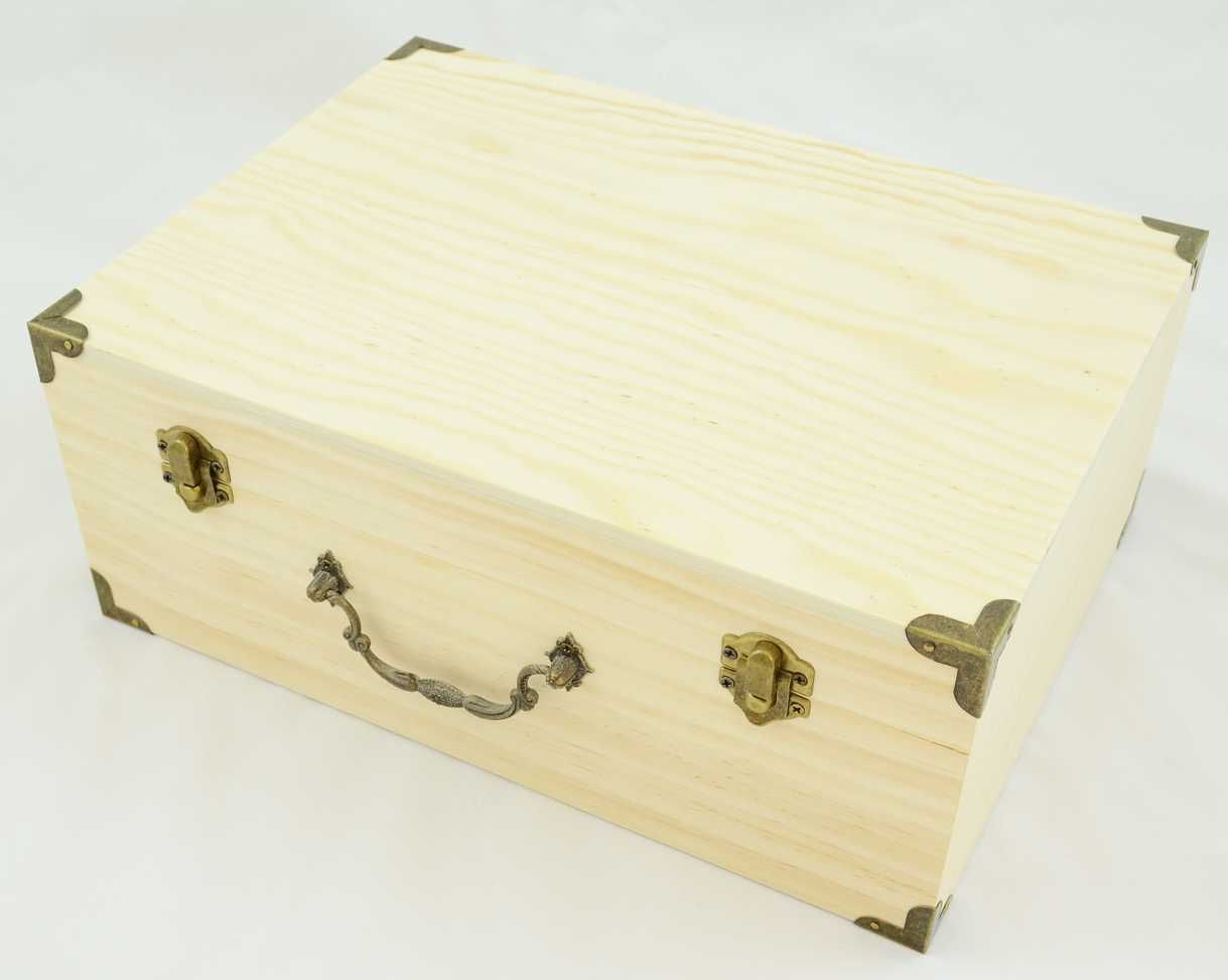 Wooden craft boxes to decorate - Large Wood Trunk Box 11 75 X 8 75 X 4 75