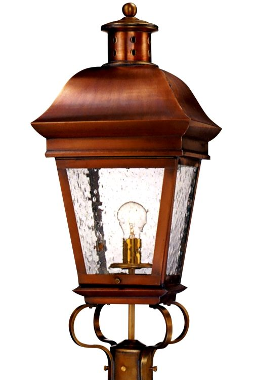 American legacy post light outdoor copper lantern copper lantern american legacy copper lantern post light shown here in our antique copper finish with water aloadofball Choice Image