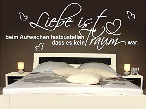 Wandtattoo Schlafzimmer Wohnzimmer Bett Liebe Aufwachen Sprüche - wandtattoos schlafzimmer sprüche