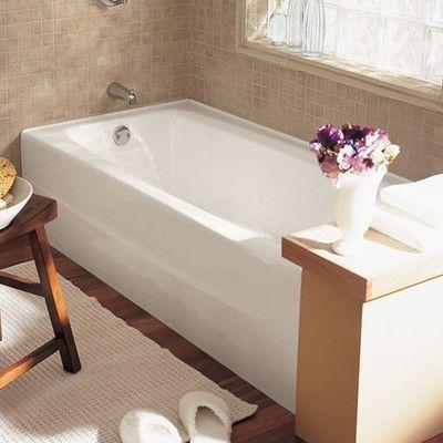 American Standard Spectra 66 X 32 Cast Iron Soaking Bathtub Drain Location Left