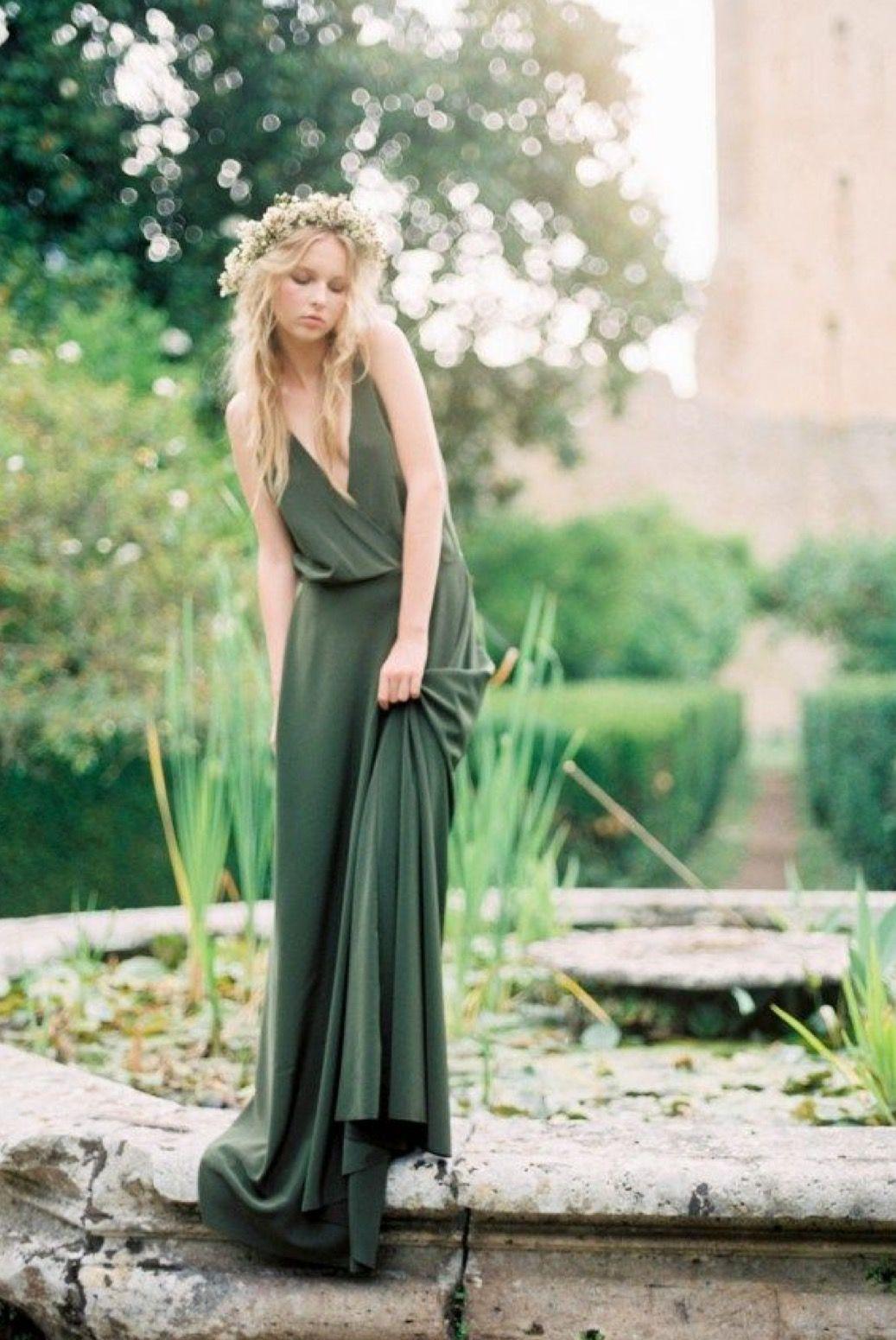 Green dress for wedding  Lovely green boho dress  Wedding ideas  Pinterest  Boho Wedding