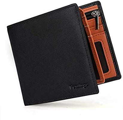 f1f4bbe8430c6 Vemingo Mens Slim Wallet RFID Blocking Bifold Wallet with Coin Pocket