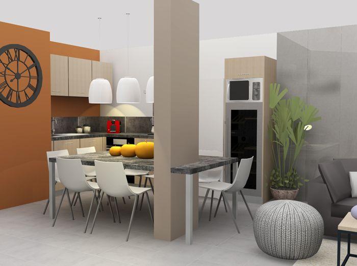 Aménagement et décoration d\'une cuisine à Lyon. | Projet de l\'agence ...