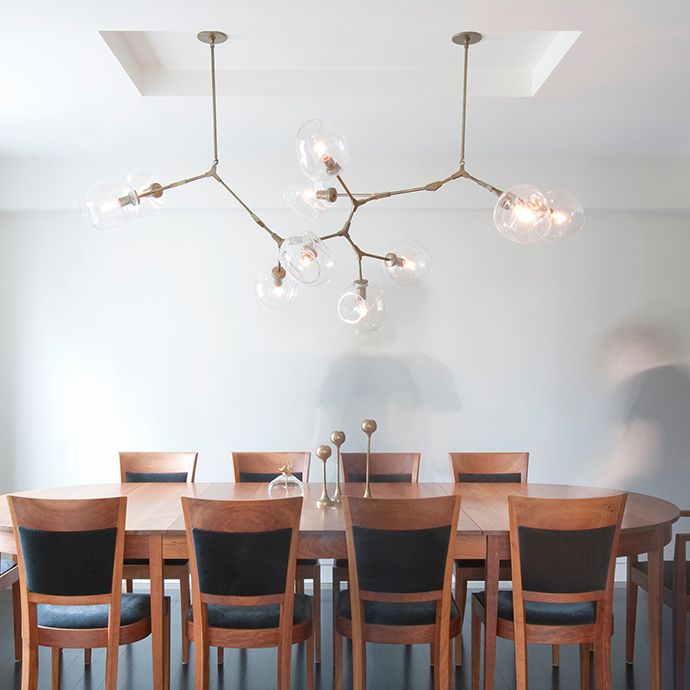Lindsey adelman 10 globe branching bubble chandelier for Dining room globe lighting