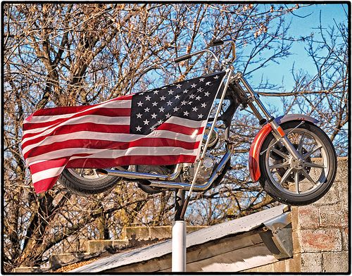 ROLLING THUNDER ~ Veteran's Day 2013 ~ Gower, Missouri ~ Copyright ©2013 Bob Travaglione ~ ALL RIGHTS RESERVED ~ www.FoToEdge.com