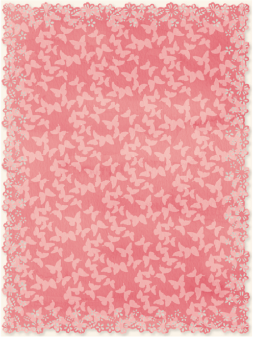 Free pink floral card template or frame