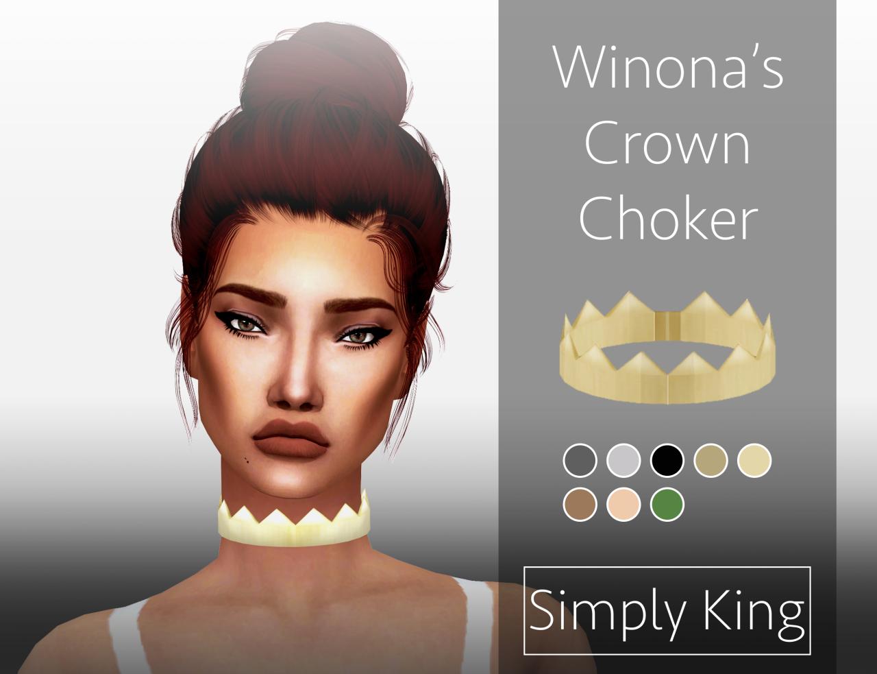 Winona's Crown Choker at Simply King via Sims 4 Updates