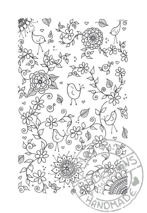 Digitale Färbung Seite 3 von BDDesignCrafts auf Etsy 2961 | Coloring ...