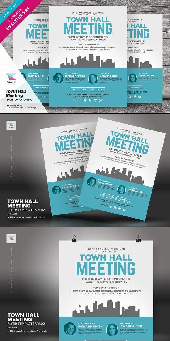 town hall meeting flyer vol 02 for 8 00 flyer flyertemplate