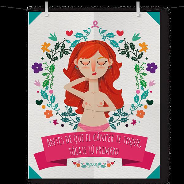 Poster Cancer De Mama On Behance Cancer De Mama El Cancer Dibujo Para Mama