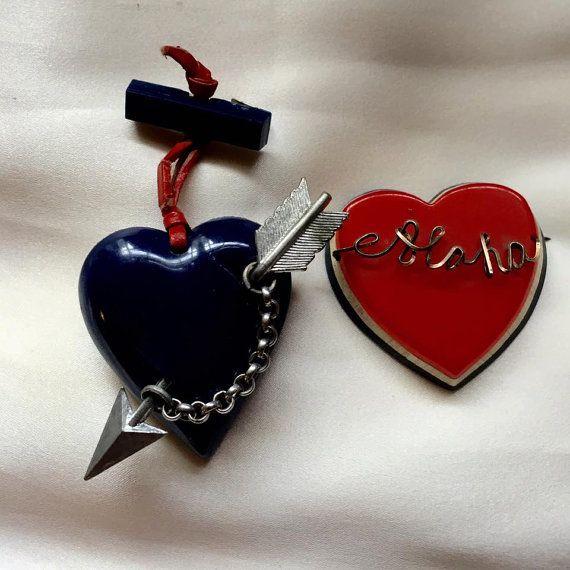 WWII Sweetheart PIN Brooch Lot BAKELITE Celluloid by jewelryannie