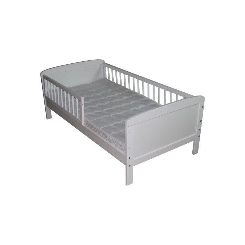 lit junior blanc 160 cm x 70 cm avec barrières | chambre adèle