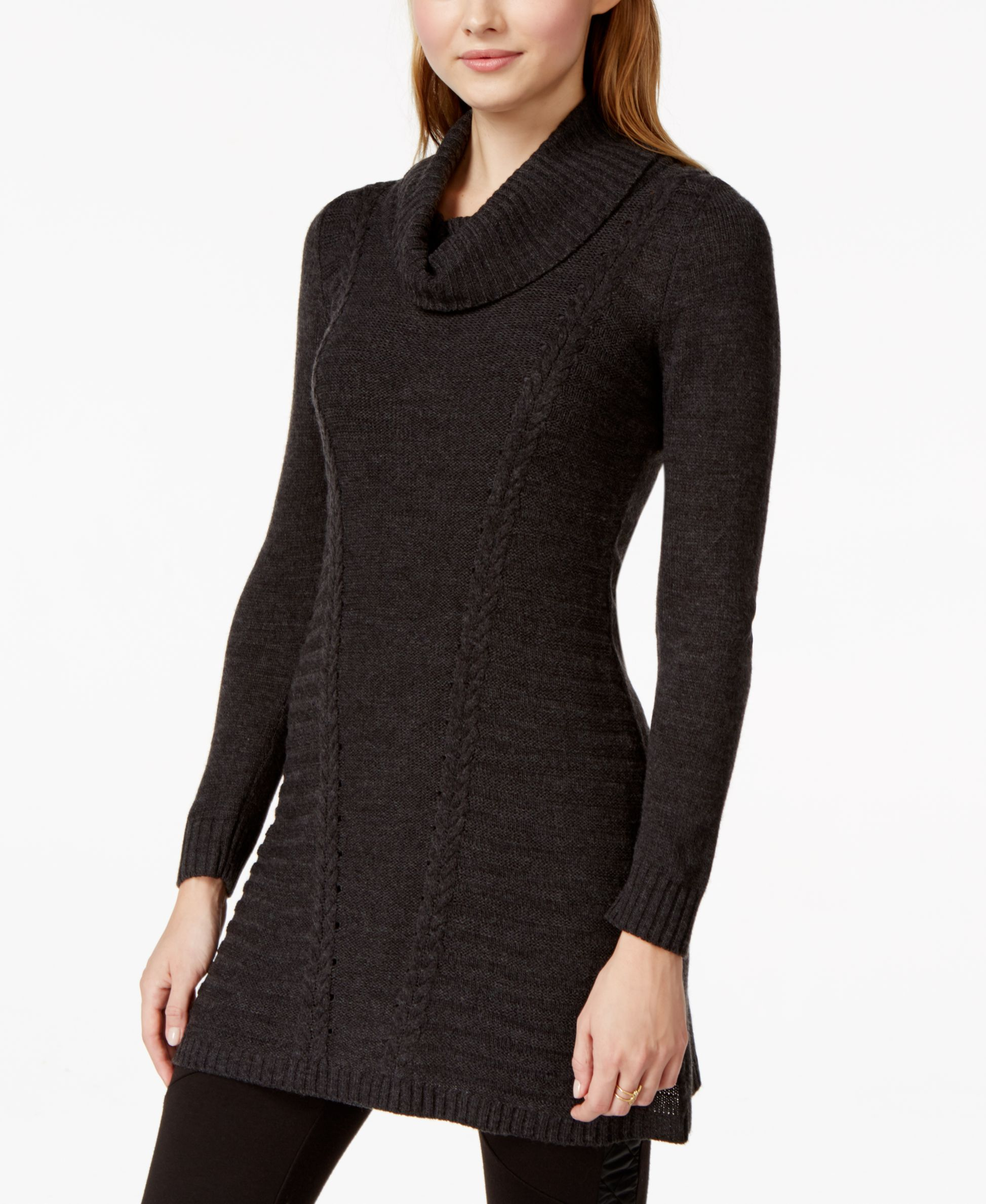 Bcx Juniors' Mixed-Knit Cowl-Neck Sweater Dress | Products ...