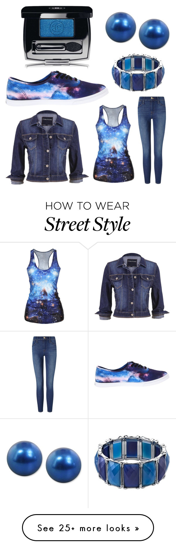 """Untitled #939"" by michelle-burns-steed on Polyvore featuring maurices, Frame Denim, Vans, 1928, Honora and Chanel"