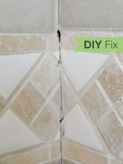 Quick Fix: Repair Cracked Bathroom Grout. Use CAULK In Corners!!! (