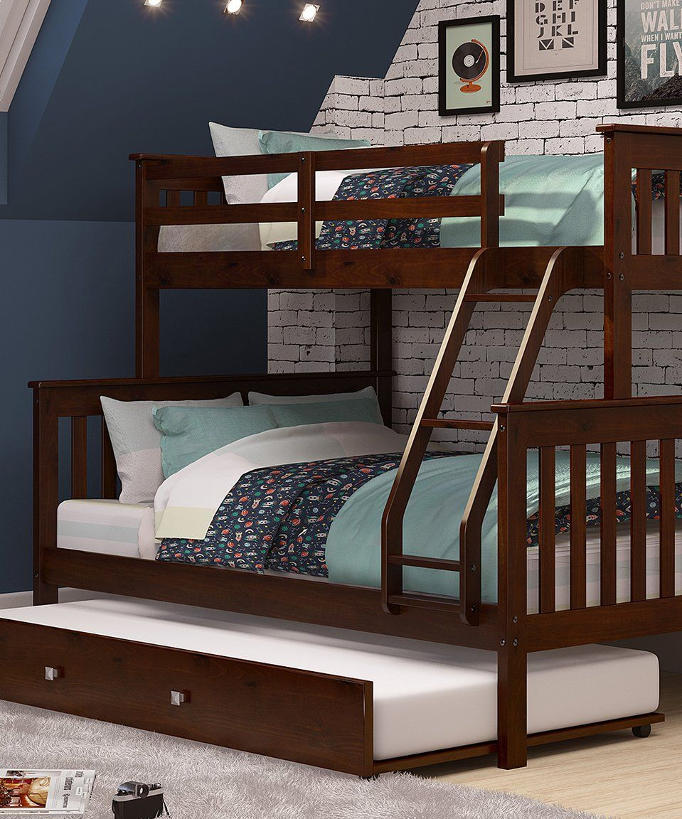 Take a look at this Brown Mission Twin/Full Trundle Bunk
