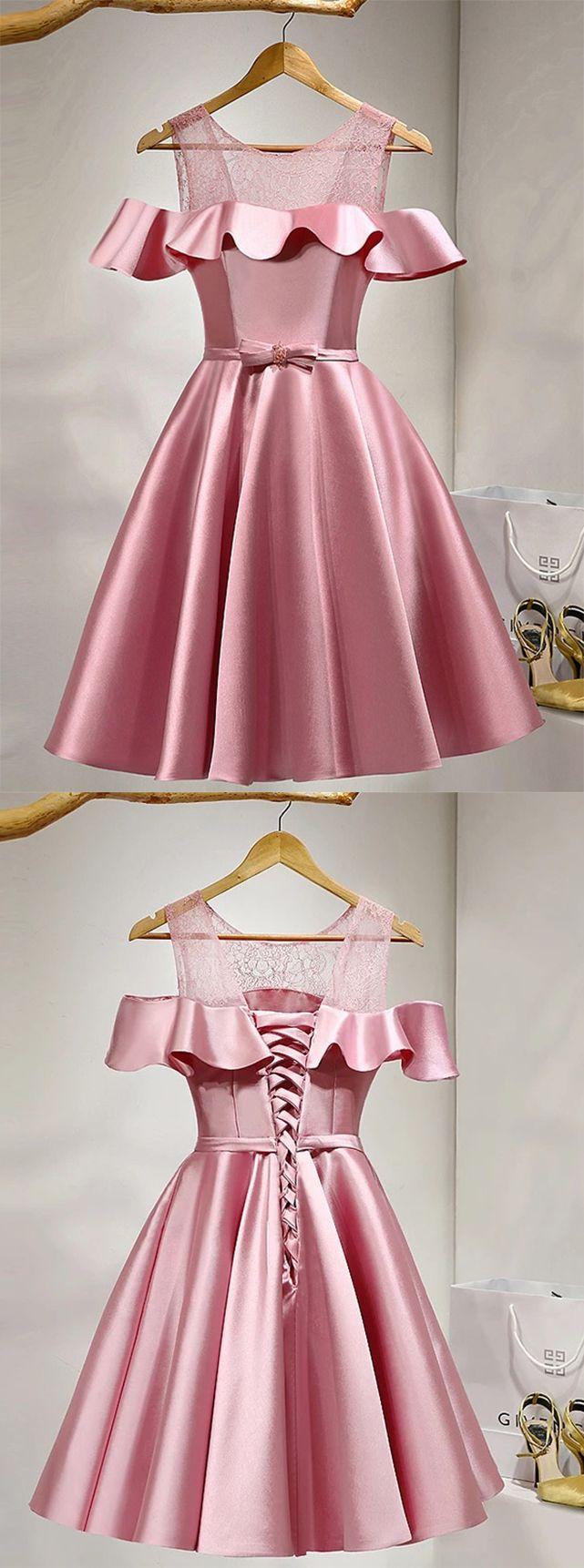 Pink homecoming dressesshort prom dressesgirls cocktail dress