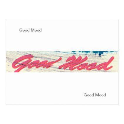 Good Mood Postcard - easter postcard template
