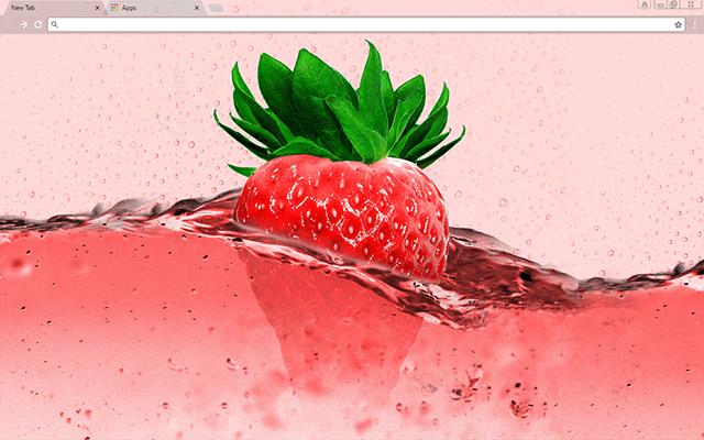 Pink Strawberry Google Chrome Theme Wallpaper Google Themes Cute Wallpapers