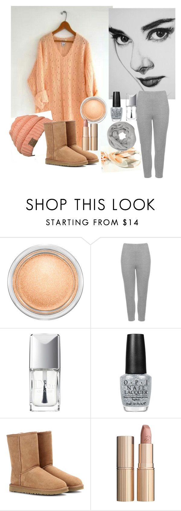 """""""peach and gray"""" by djjustcelove liked on Polyvore"""