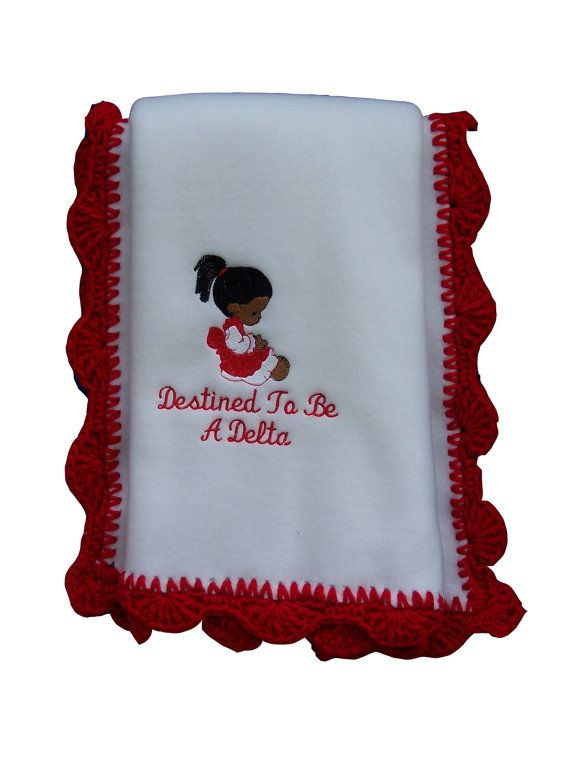 Destined To Be A Delta Baby Blanket Delta Sigma Theta