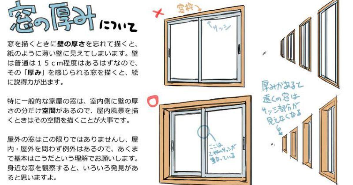 部屋の窓をあらためて見てみて納得です!