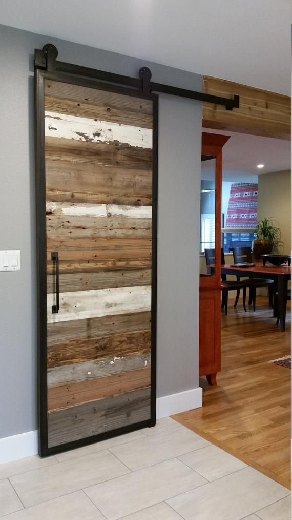 Barn Doors in Reclaimed Wood Tracks Included