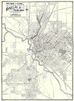 Old City Map - Dallas, Suburbs Texas - Weichsel 1919 - 23 x 31.30 ...
