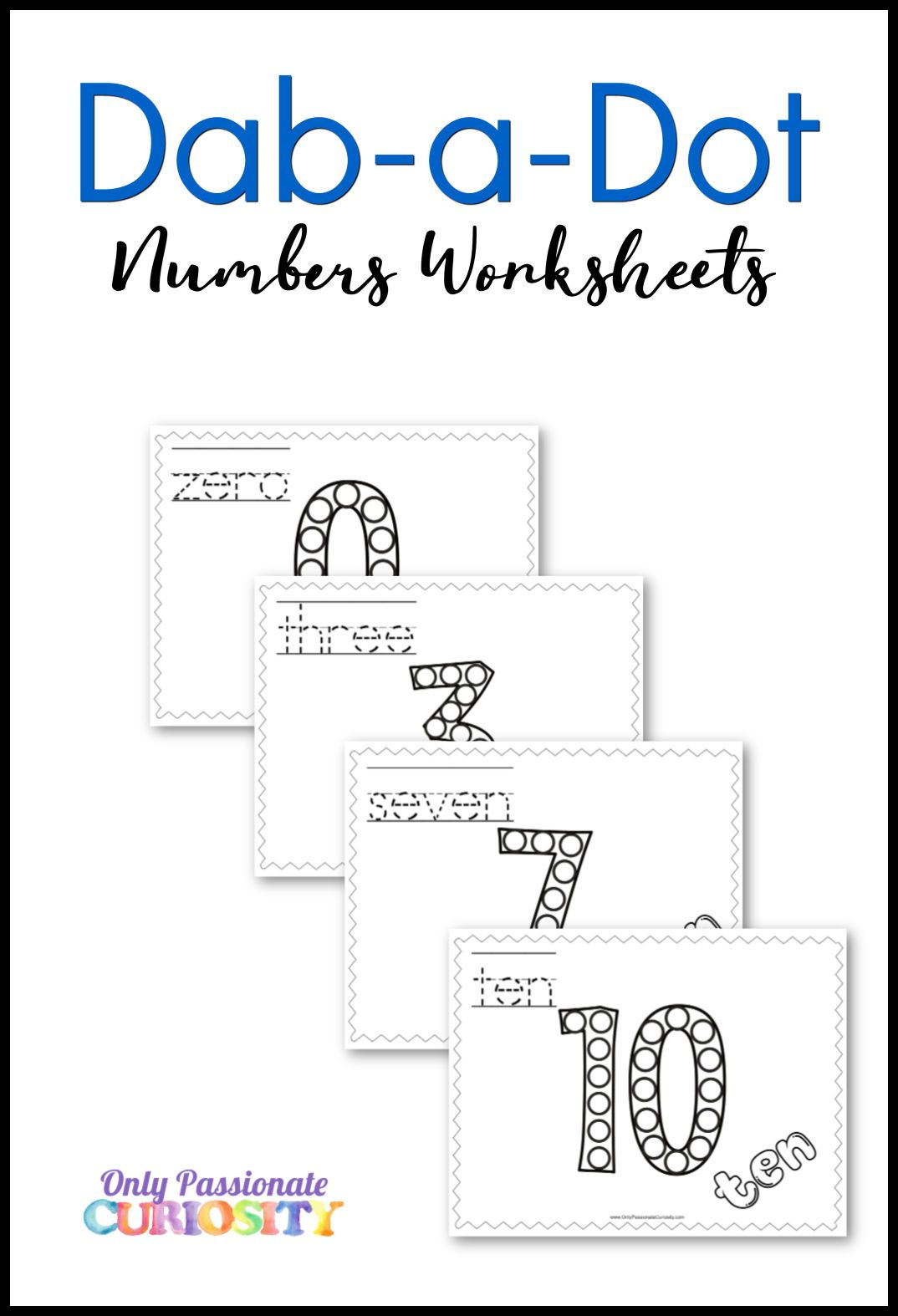 Dab A Dot Number Worksheets