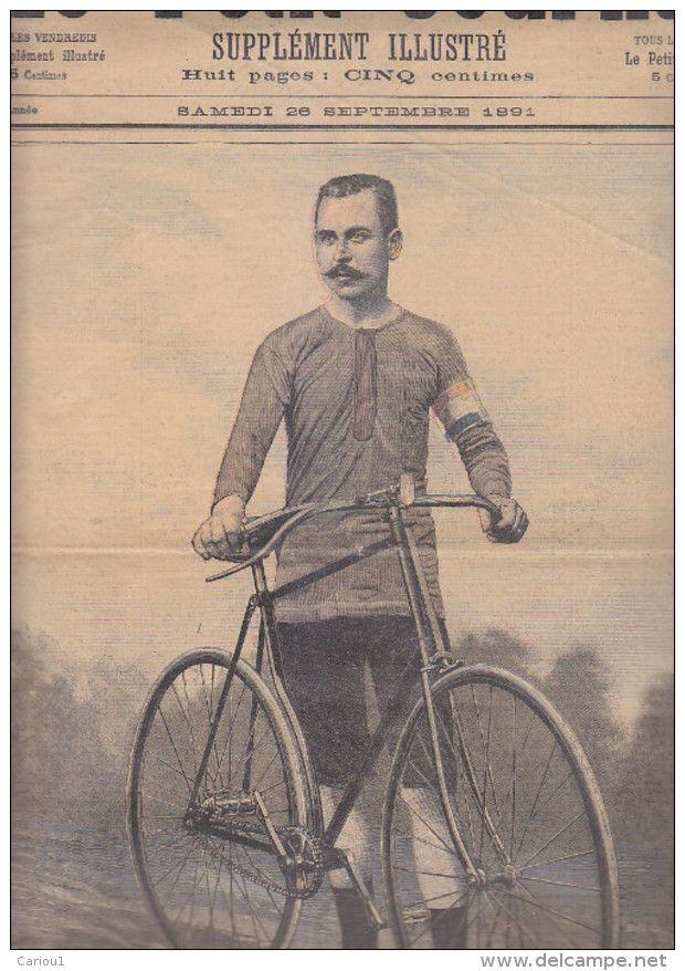 C1 VELO Cyclisme PETIT JOURNAL 1891 Charles TERRONT Vainqueur COURSE ...